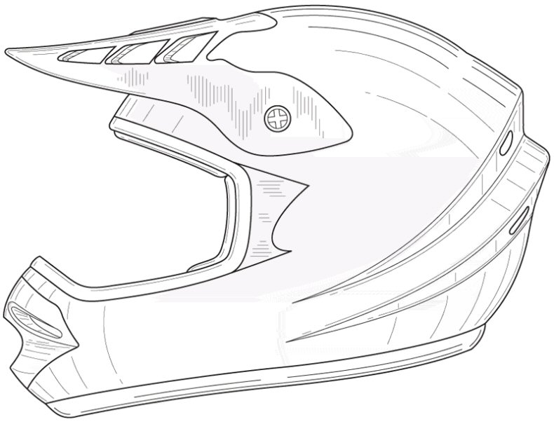 Helmets Drawings Dirt Bike Helmet Drawing